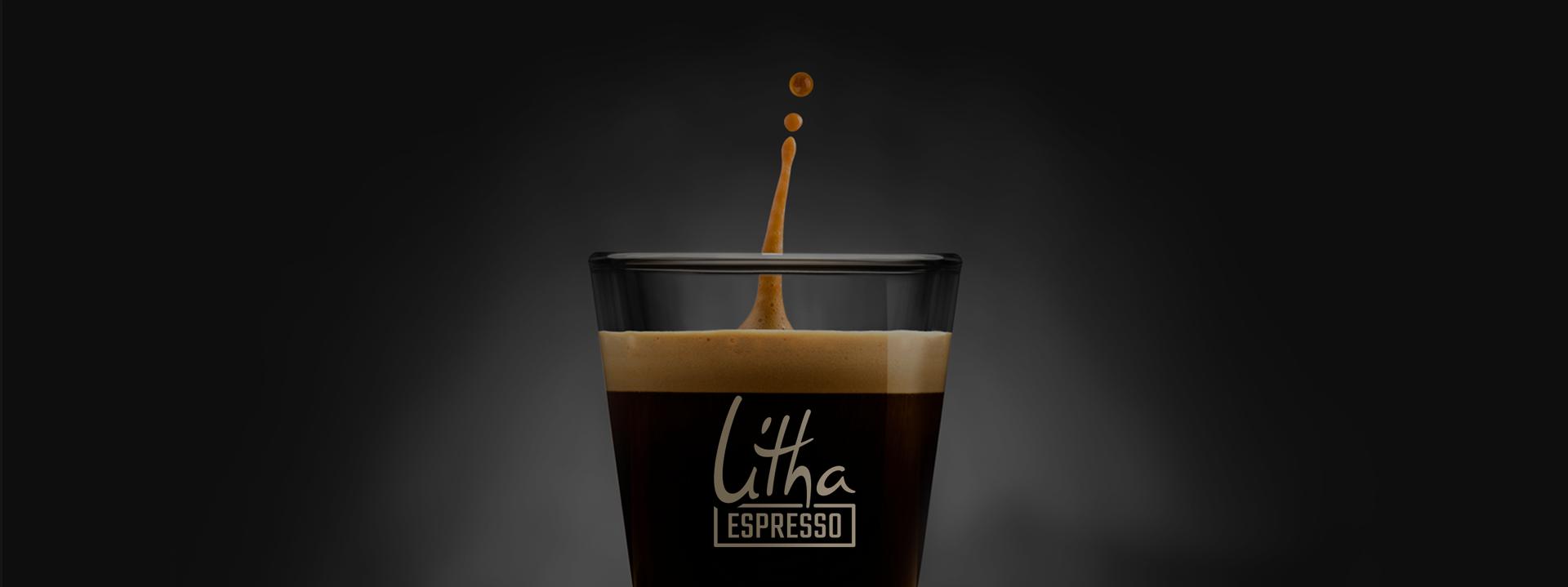 Tasse à café en verre simple paroi Litha