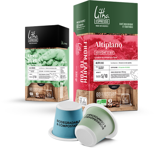 Café en capsules Ouro Preto et Altiplano Litha Espresso à Paris